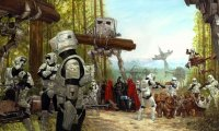 Battle of Endor with Ewoks, Rebels & Troopers